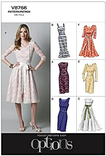 Vogue Patterns V8766 Misses'/Misses' Petite Dress, Size D5 (12-14-16-18-20)