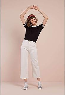 Calça Sarja Wide - Leg White