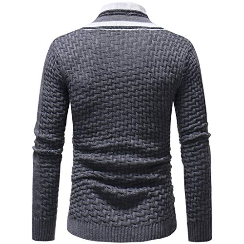 MENHG Men's Roll Neck Knitted Sweatshirt Jacket Cardigan Sale Clearance Jumper Sweater Men Long Sleeve Solid Colour Classic Casual Plaid Button Warm Fleece Knitwear Jacket Pullover Blouse Top Outwear
