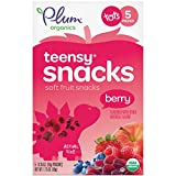 Plum Organics Teensy Snacks Organic Toddler Fruit Snacks, Berry, 1.75 Ounce Bags (Case of 8)