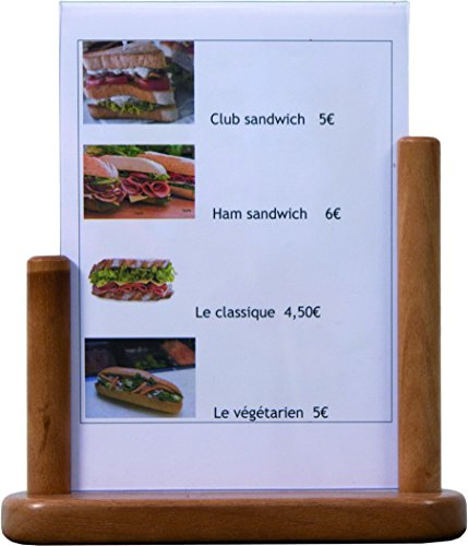 SECURIT Table en Teck Taille Poster Frame: a5