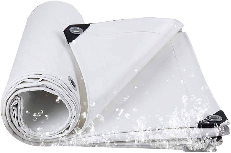 Tarps Waterproof Tarpaulin Tarp Sunscreen Cloth Sunshades Depot with Grommets Tarpaulins Camping Tent Cover,White