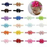 Baby Mädchen Stirnbänder Weiche Elastische Bowknot Haarband für Kinder Kleinkind Infant 20 stücke