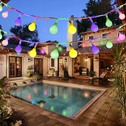 LED Lichterkette, BIGHOUSE 5M 50 LEDs Mehrfarbig Lichterkette Außen mit Stecker, 8 Modi, Merk Funktion, Wasserdichte IP44, Kugel Lichterkette für Innen/Außen Dekoration