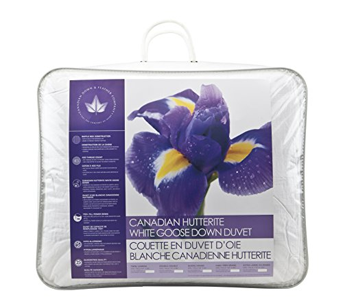 Canadian Down & Feather Co - All Season Weight Canadian Hutterite Goose Down Duvet Queen Size - 400 TC Shell 100% Cotton - Made in Canada