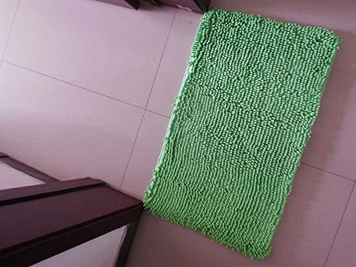 Hartvormig chenille-tapijt woonkamer salontafel slaapkamer nachtkastje trappen absorberende antislipvoetmat hoog absorptievermogen + wasbare frucht groen 40 * 50 cm