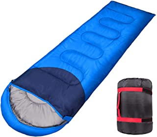 Camping Sleeping Bag - Ultralight 3 Season Sleeping Bag For Warm & Cool Weather - Summer, Spring, Fall, Lightweight, Waterproof for Adults & Kids - Camping Gear Equipment, Traveling, and Outdoors
