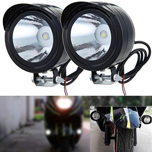 League & Co Faro para moto, bicicleta, SUV, ATV, camiones, 12V 80V 3W, foco LED, luz de niebla, luz diurna (2)