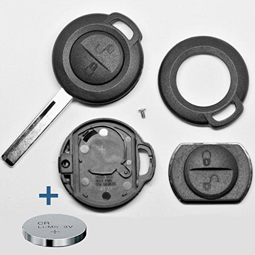 Auto Schlüssel Funk Fernbedienung 1x Gehäuse + 1x CR2016 Batterie für Mitsubishi/Smart