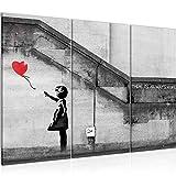 Runa Art Banksy Ballon Girl Bild Wandbilder Wohnzimmer XXL