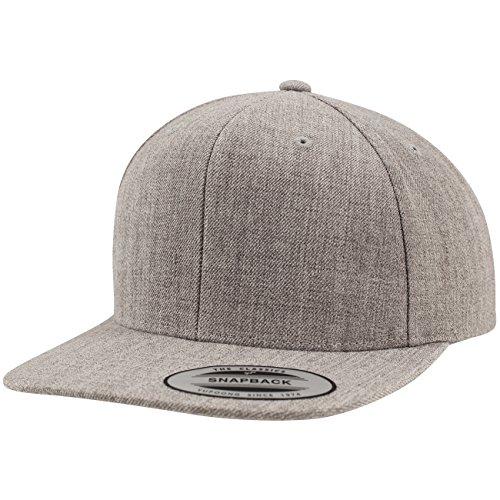 Flexfit Classic Snapback Cap, Mütze Unisex Kappe für Damen und Herren, One Size, Farbe heather/heather