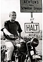 (24x36) The Great Escape Movie (Steve McQueen on Motorcycle, No Text) Poster Print