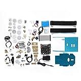 Tanque de seguimiento DIY Smart Car para Raspberry Pi 4B / 3B +, control inalámbrico y cámara 480P y placa base de desarrollo BST-4WD, potente robot de montaje(EU)
