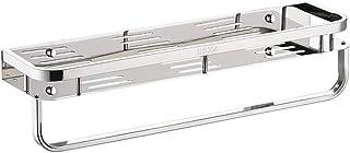 Organisateur bain douche avec étagère Porte-serviettes 304 mur en acier inoxydable monté Cuisine Rangement Salle de bain C...