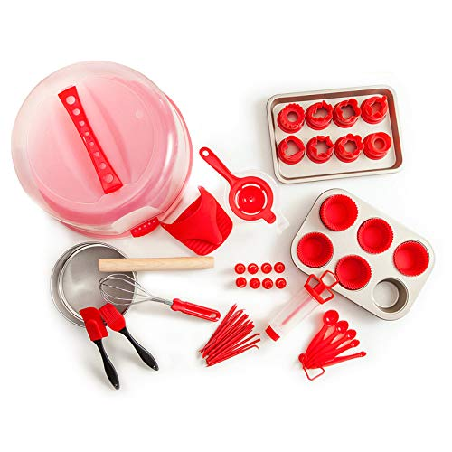 Re.cook 59 PCS Cake Decorating Kit, Complete Cake Decorating Supplies and Baking Supplies, Piping Bag Tool, Muffin Cup Mold,cookie baking set for Adults and Kids