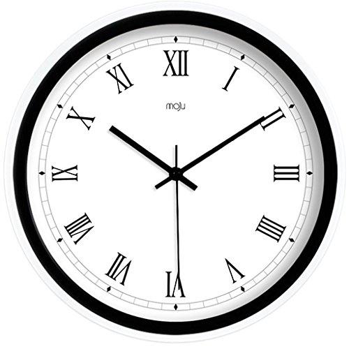 Horloge murale créative européenne simple et moderne Horloge murale , black , 12