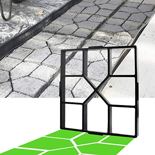 CJGQ 15.7'x15.7'x1.57' Walk Maker Reusable Concrete Path Maker Molds Stepping Stone Paver Lawn Patio Yard Garden DIY Walkway Pavement Paving Moulds (Square)