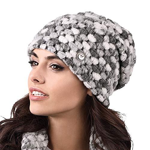 Kamea Cappello Femminile Invernale Colorato Foderato Merano, Grigio Scuro,Uni