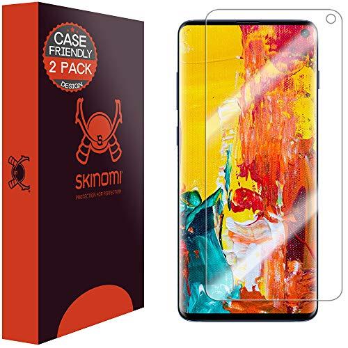 Skinomi TechSkin - Schutzfolie kompatibel mit Samsung Galaxy S10 (6.1 Zoll), deckt den Bildschirm und ist Hüllenkompatibel, 2er Pack