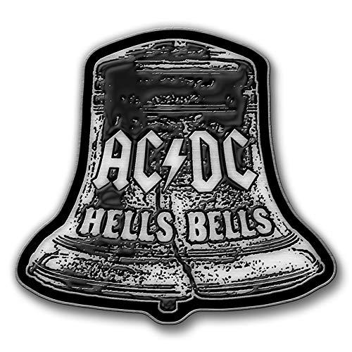 AC/DC METALL PIN # 32 HELLS BELLS ANSTECKER BADGE BUTTON - 4x3cm