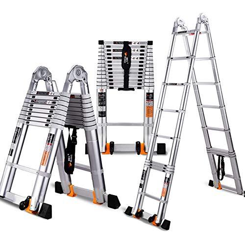 Xiao Jian- Telescopische ladder - All-aluminium multifunctionele ladder, dikkere ladder - 5 maten Step kruk