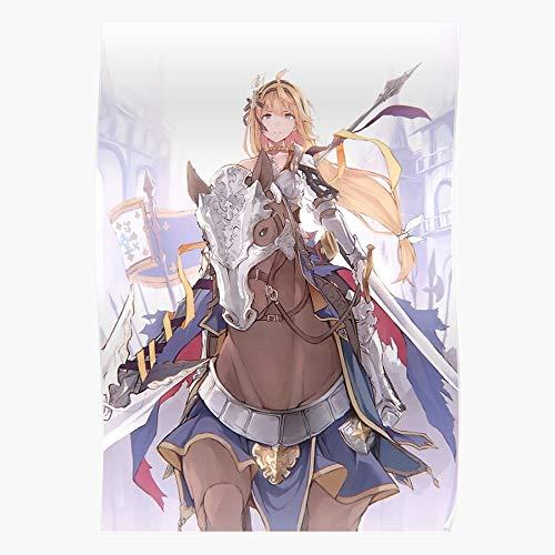 UnisylBoutique Fantasy Maiden Knight Female Jeanne Anime Holy Granblue Darc Geschenk für Wohnkultur Wandkunst drucken Poster 11.7 x 16.5 inch