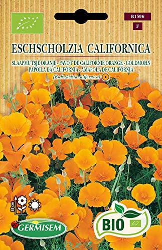 Germisem Orgánica Eschscholzia California Semillas de Amapola de Oro 0.5 g (ECBIO1596)