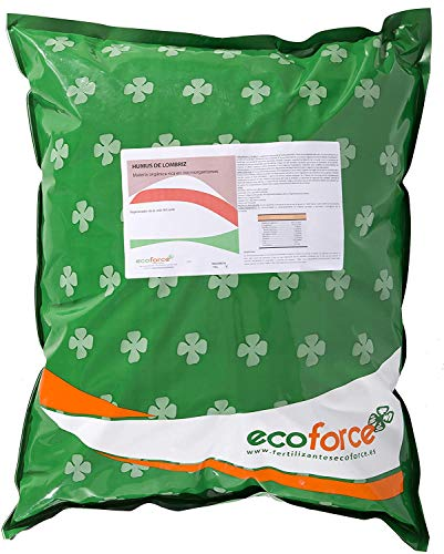 CULTIVERS Humus de Lombriz Ecológico 10 kg (20 L). Abono para plantas indicado para Jardín. Fertilizante Orgánico 100% Natural. Reconstituyente del suelo
