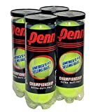 Penn Championship Tennis Balls - Extra Duty Felt Pressurized Tennis Balls - 4 Cans, 12 Balls