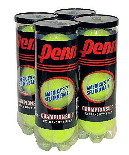 Price comparison product image Penn Championship Tennis Balls - Extra Duty Felt Pressurized Tennis Balls - 4 Cans,  12 Balls