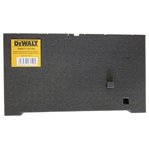 DeWalt Schaumstoffeinlage (für Tough Boxen, Würfel-Schaumstoffeinlage für DS150 und DS300, individuell anpassbar) DWST7-97150