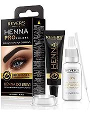 Henna voor wenkbrauwen ProClors Bio Formula Cremiges Henna met arganolie en ricinusolie (1.0 Black)