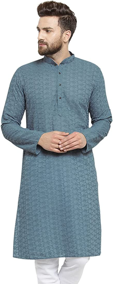 Yard Of Deals Designer Grey Embr Chikankari Jaal Cotton Spring new work one after Bargain another Lucknowi