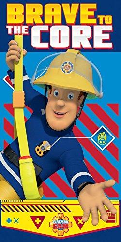 Feuerwehrmann Sam Handtuch Brave To The Core Badetuch Strandtuch Fireman Sam Beach Towel