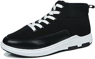 Shoes スニーカー 男性 アスレチック 靴 カジュアル ハイトップ スポーツ シューズ Comfortable (Color : ブラック, サイズ : 26 CM)