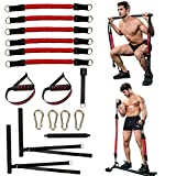 DOHOO Pilates Bar with Resistance Bands, Squat Pilates Bar Stick for Home Exercise Workout Equipment...