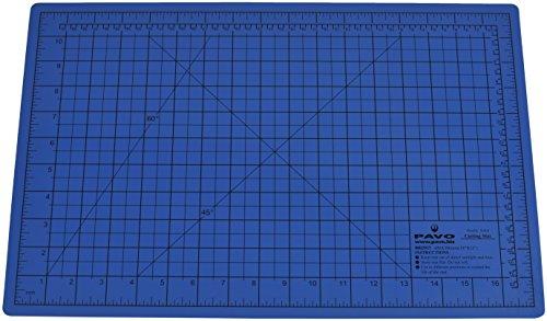 Pavo 8002917 Premium Tappetino da Taglio, Formato A3, 450x300mm, Autorigenerante, Blu