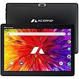 ACEPAD A121 Tablet 10,1 Zoll - Deutsche Marke - 4G LTE, 64GB Speicher, Android 9.0 Pie, IPS HD, Wi-FI/Bluetooth/GPS - v2021 (Schwarz)