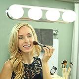 Luces del Espejo De La Vanidad Studio Glow 4 Bombillas LED Maquillaje Super Brillante Kit De Luz De Espejo Cosmético Portátil Batería