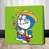 OKOUNOKO 150 Rompecabezas Niños, Doraemon Cowboy, Decoración para El Juego De Juguetes para El Hogar, Gran Regalo Educativo 10X15Cm