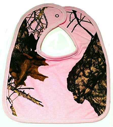 Mossy Oak Breakup Camo Pink Large Baby Bib #NBB1PMC