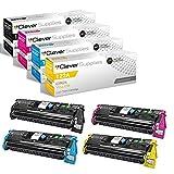 CS Compatible Toner Cartridge Replacement for HP 122A Q3960A Black Q3961A Cyan Q3962A Yellow Q3963A Magenta Color Laserjet 2550 2550L 2550LN 2550N 2800 2820 2830 2840 4 Color Set