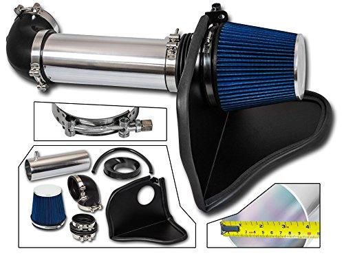 Cold Air Intake System with Heat Shield Kit + Filter Combo BLUE Compatible For 05-08 Dodge Magnum / 06-08 Dodge Charger / 05-10 Chrysler 300/08-10 Dodge Challenger HEMI 5.7L / 6.1L V8