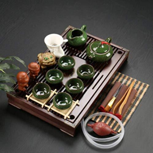 Juego de té de Arcilla púrpura de cerámica Infusor de Kung Fu Bandeja de té de Madera Maciza Tetera Tazas de té Vajilla China Gaiwan, s6