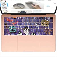 igsticker MacBook Air 13inch 2018 専用 キーボード用スキンシール キートップ ステッカー A1932 Apple マックブック エア ノートパソコン アクセサリー 保護 012842 ハロウィン かぼちゃ おばけ