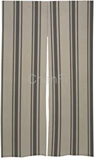 Rustic Farmhouse Black Ticking Farm Country Modern StripedJapanese Style Doorway Curtain Hallway Bedroom Partition Curtain Cotton Linen Curtain for Home Decor 86x143cm