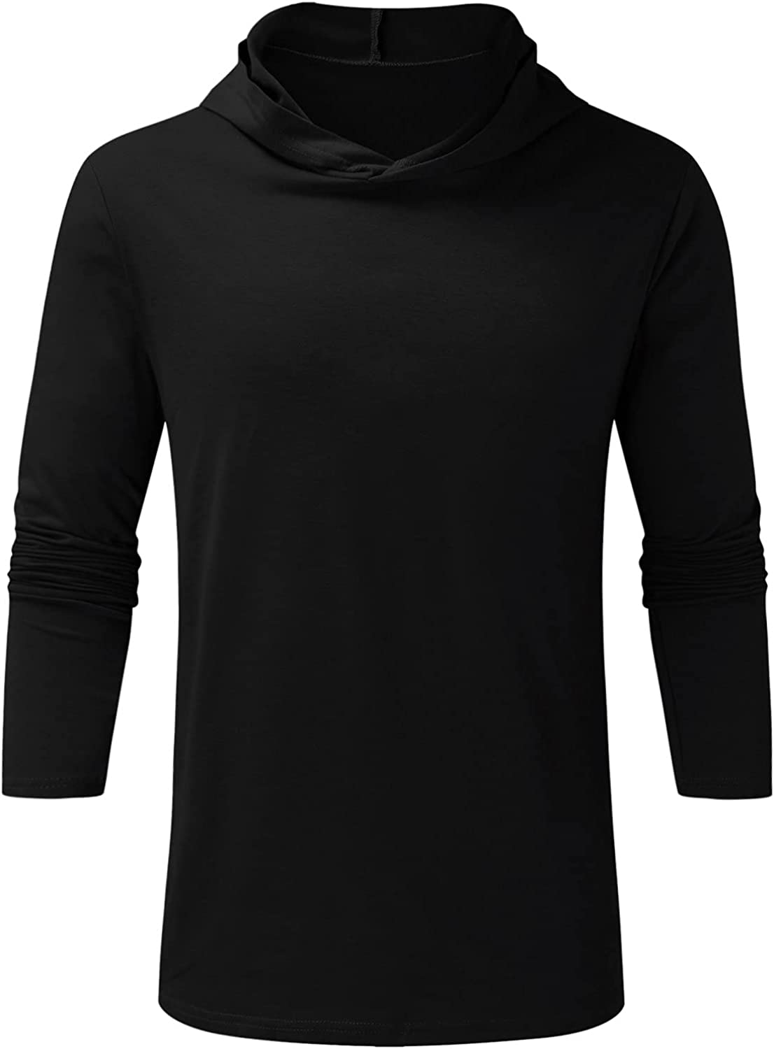 DZQUY Men's Casual Hooded T-Shirts Fashion Long Sleeve Outdoor Athletic Fishing Hiking Gym Muscle Pullover Shirts Rash Guards