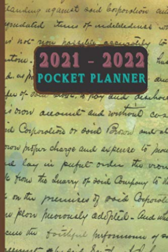 2 Year Planner 2021-2022 Small Plan Ahead Calendar Vintage Style For Man And Women: 24 Month Planner 4x6 Inches Simple Retro Style, Calendar Planner Pocket Size