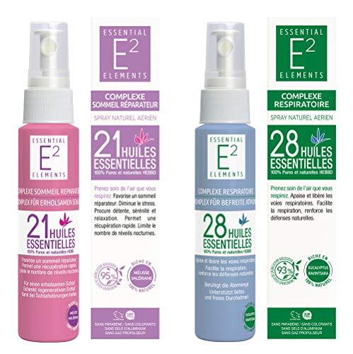 SOLDE Kit bien-être : Spray Sommeil Réparateur aux 21 huiles essentielles + Spray Respiratoire aux 28 huiles essentielles VEGAN