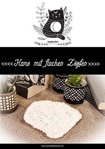 Strickanleitung: Karo mit flachen Zöpfen: Karo für die Kuscheldecke selber stricken